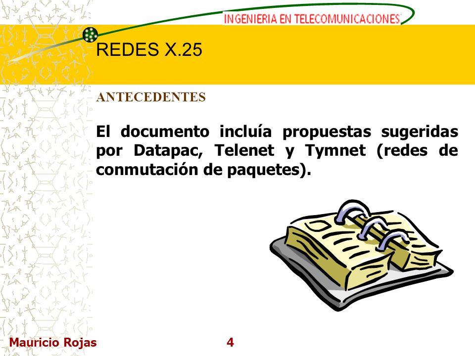 ANTECEDENTES El documento incluía propuestas sugeridas por Datapac, Telenet y Tymnet (redes de conmutación de paquetes).