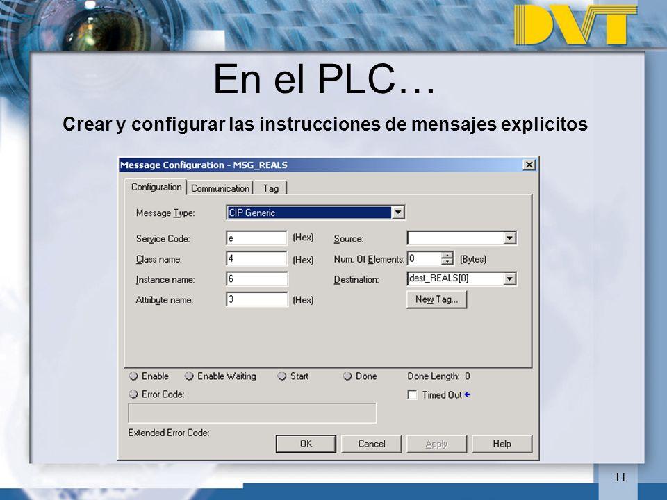Crear y configurar las instrucciones de mensajes explícitos