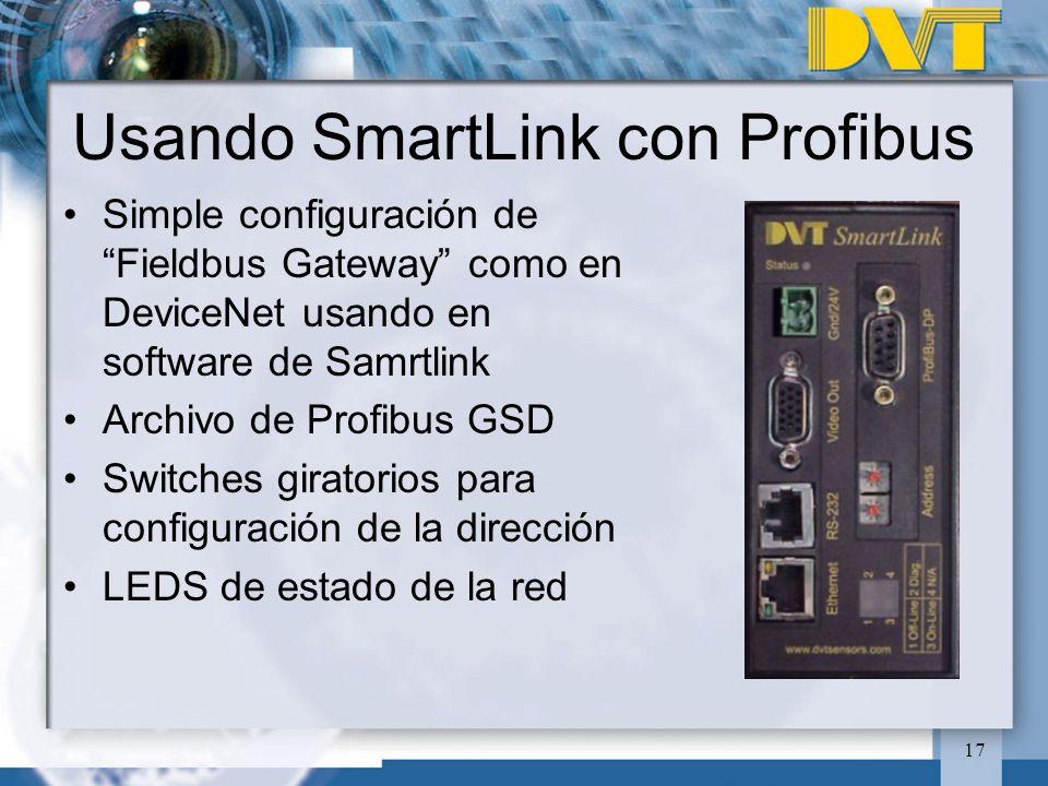 Usando SmartLink con Profibus