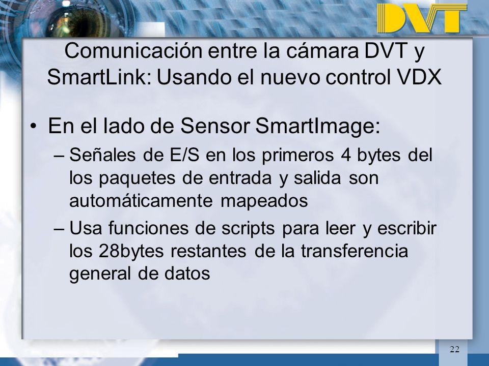 En el lado de Sensor SmartImage: