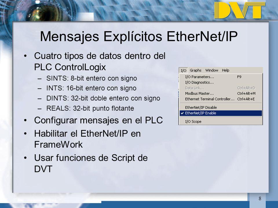 Mensajes Explícitos EtherNet/IP