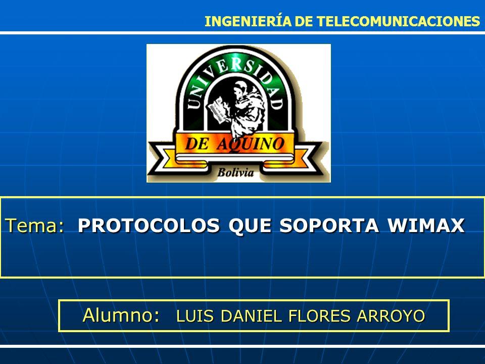 Tema: PROTOCOLOS QUE SOPORTA WIMAX
