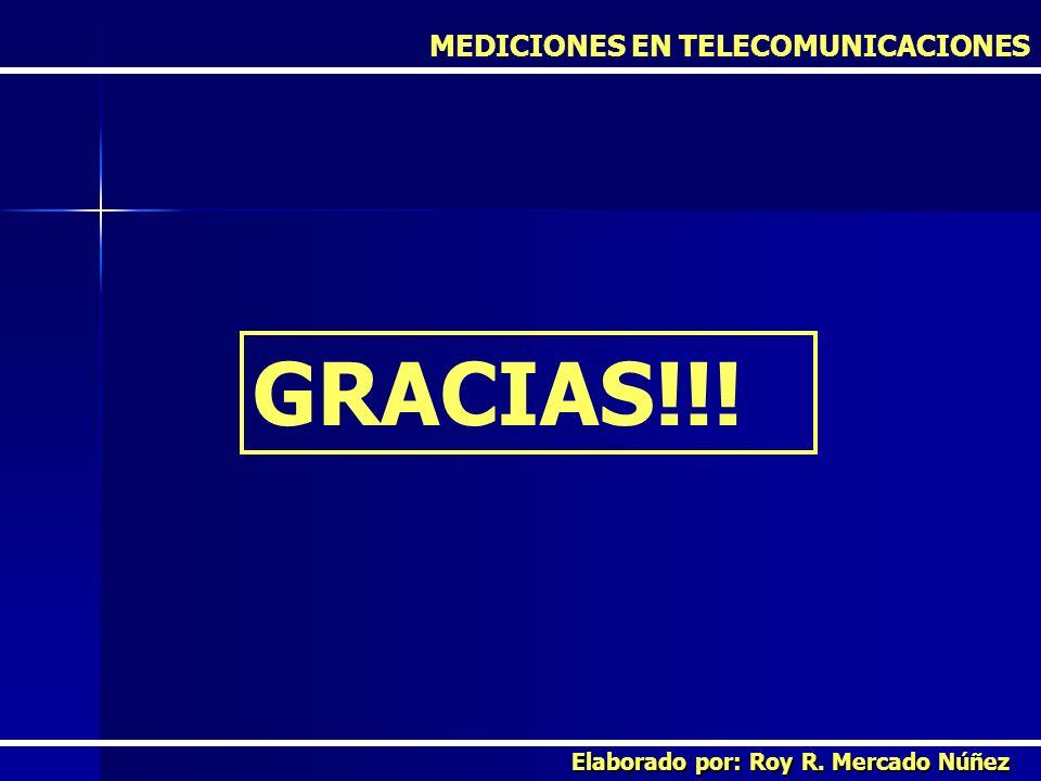 GRACIAS!!! MEDICIONES EN TELECOMUNICACIONES