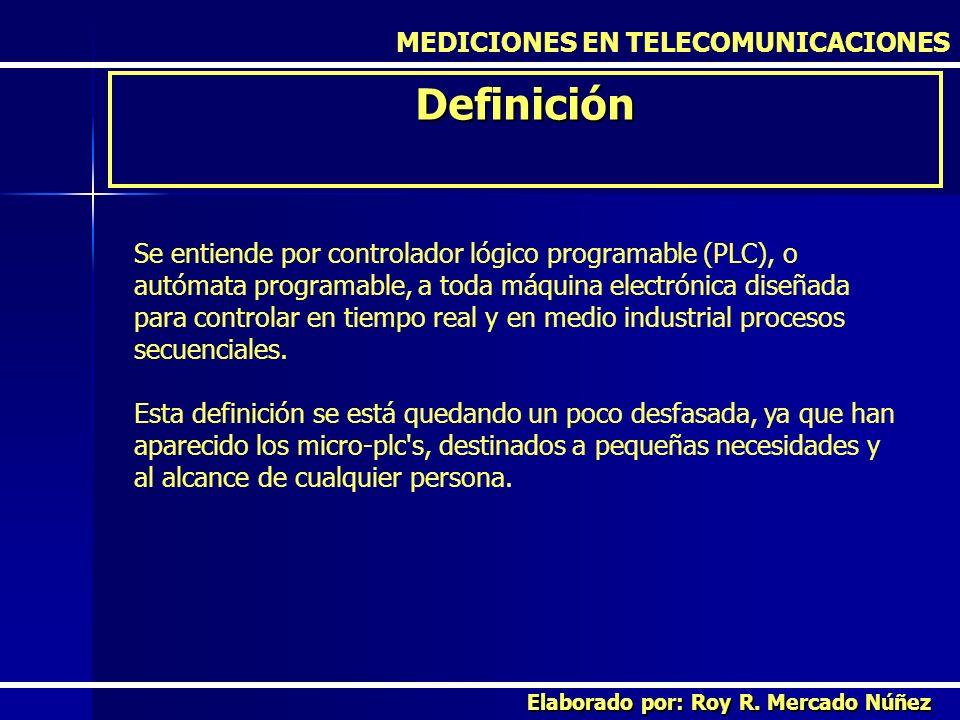 Definición MEDICIONES EN TELECOMUNICACIONES