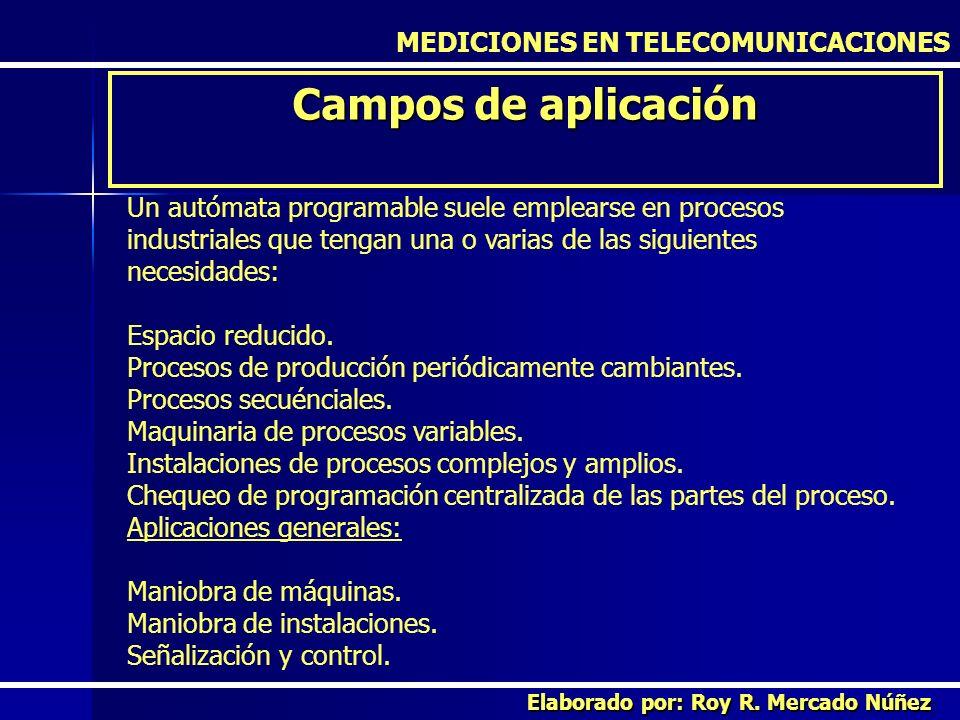 Campos de aplicación MEDICIONES EN TELECOMUNICACIONES