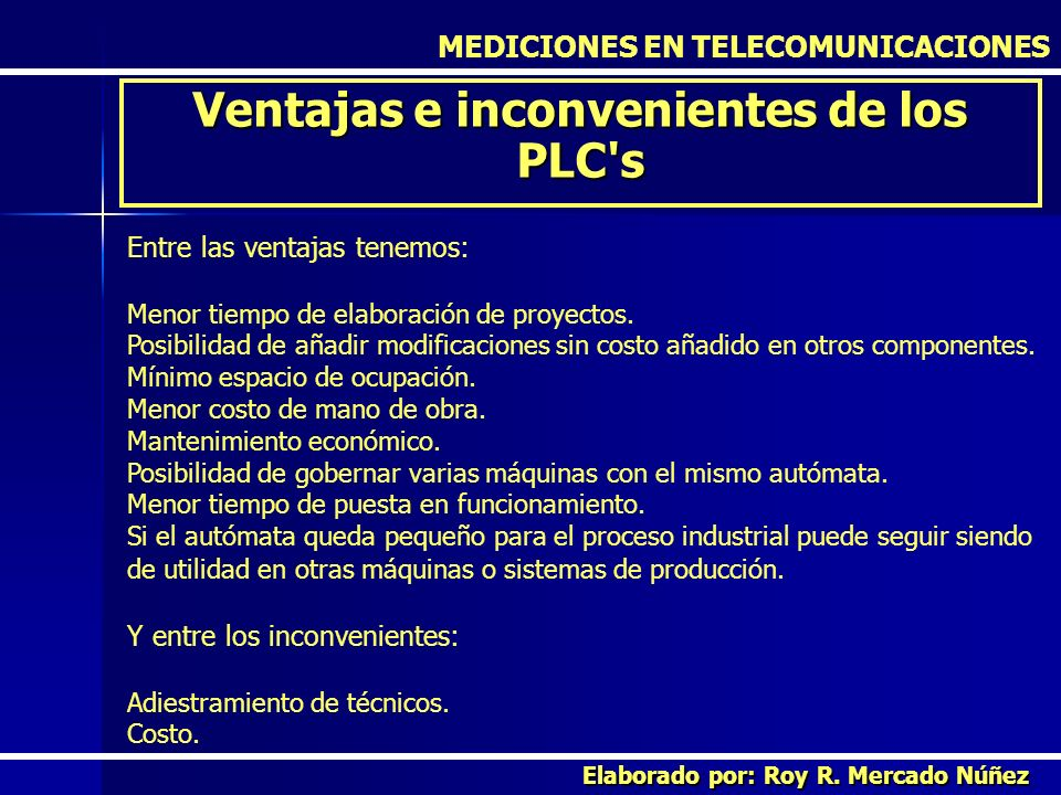 Ventajas e inconvenientes de los PLC s