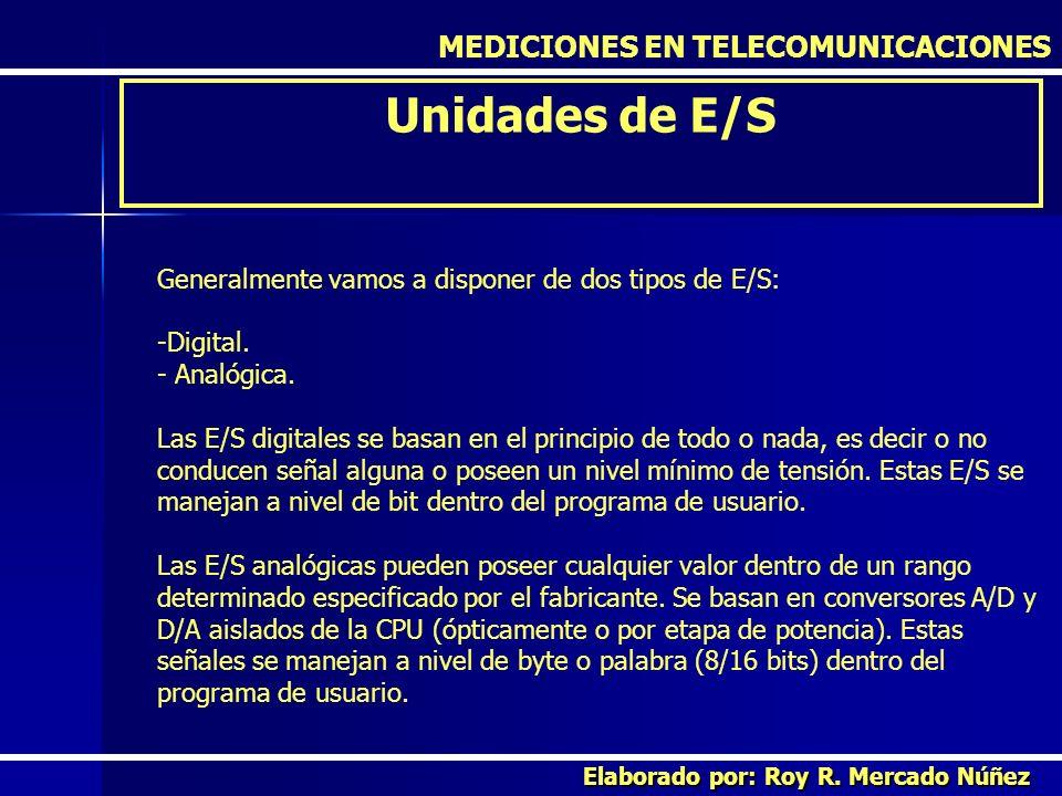 Unidades de E/S MEDICIONES EN TELECOMUNICACIONES