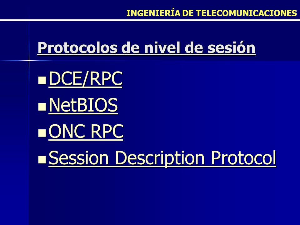 Protocolos de nivel de sesión