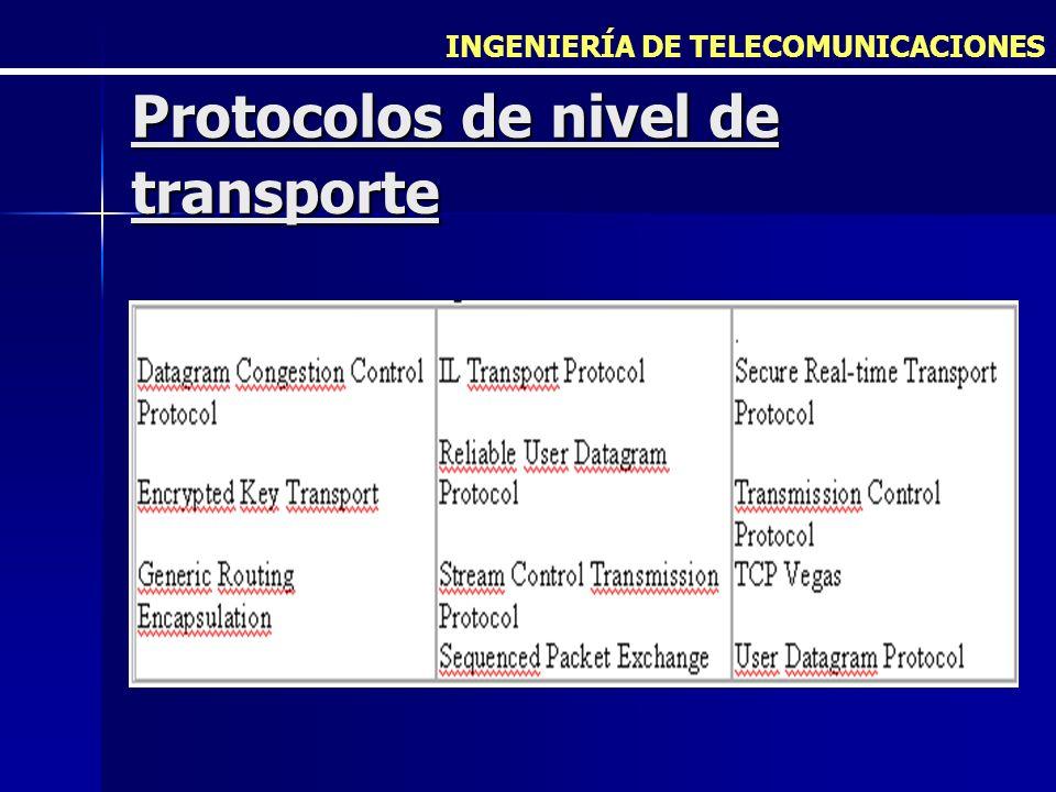 Protocolos de nivel de transporte