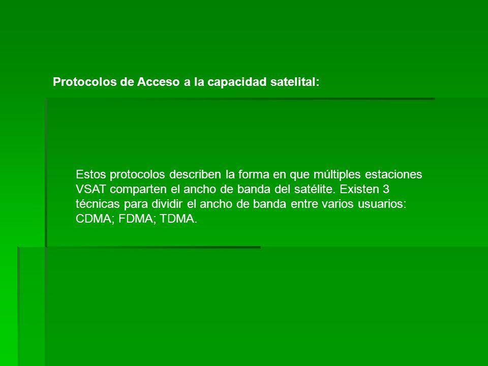 Protocolos de Acceso a la capacidad satelital: