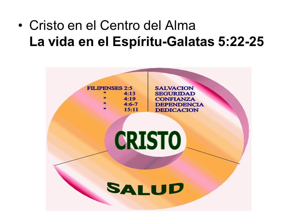 Cristo en el Centro del Alma La vida en el Espíritu-Galatas 5:22-25