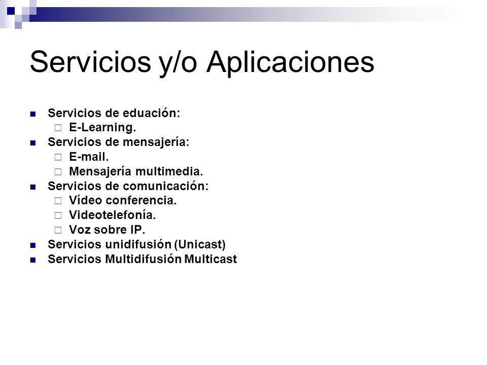 Servicios y/o Aplicaciones