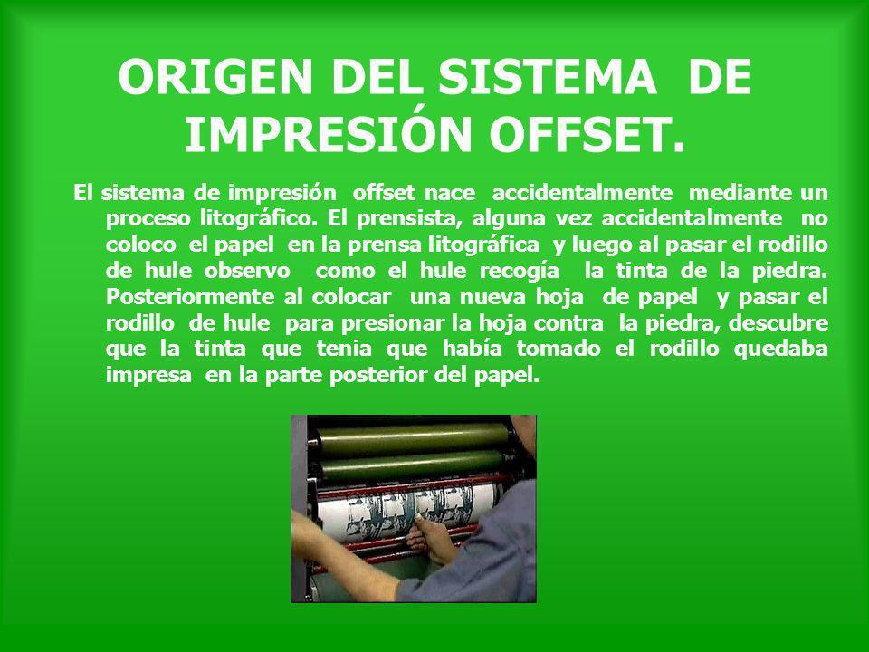 ORIGEN DEL SISTEMA DE IMPRESIÓN OFFSET.
