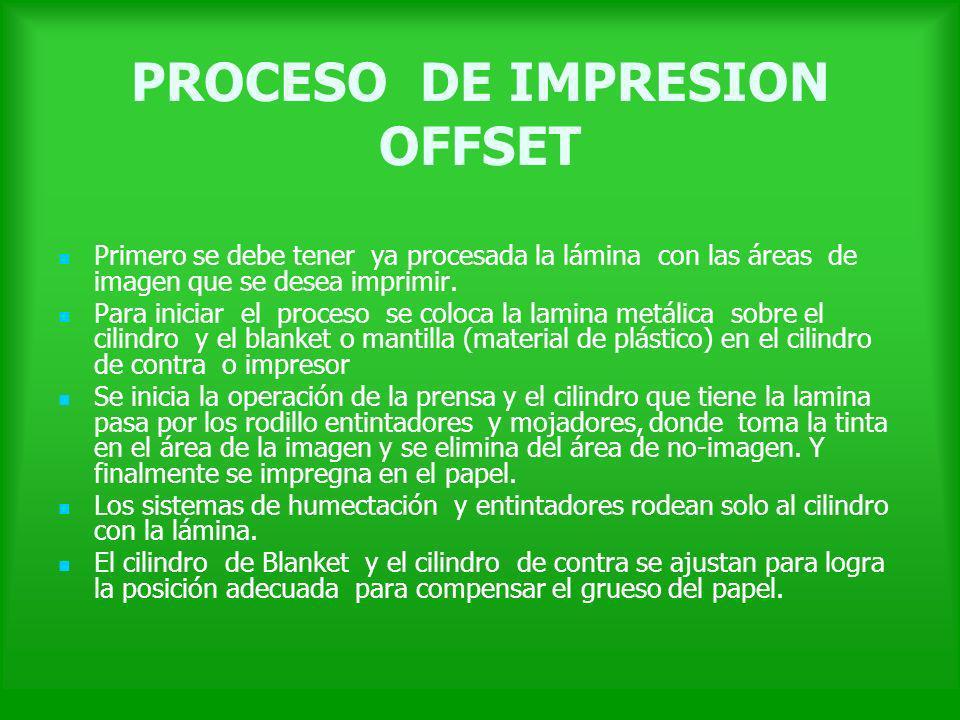 PROCESO DE IMPRESION OFFSET