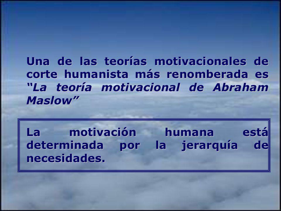 Una de las teorías motivacionales de corte humanista más renomberada es La teoría motivacional de Abraham Maslow
