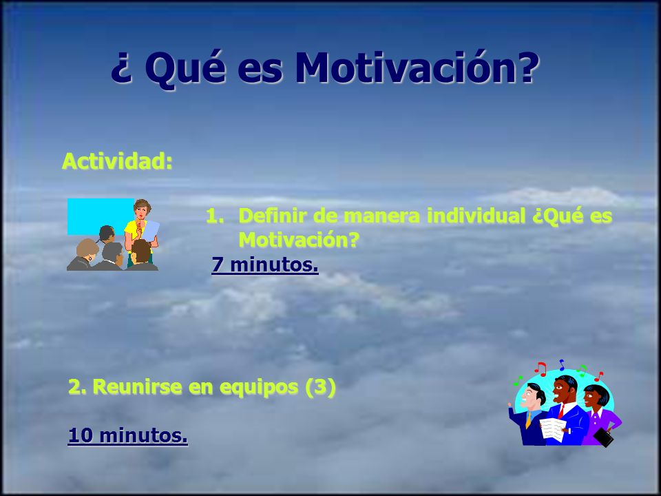 ¿ Qué es Motivación Actividad: