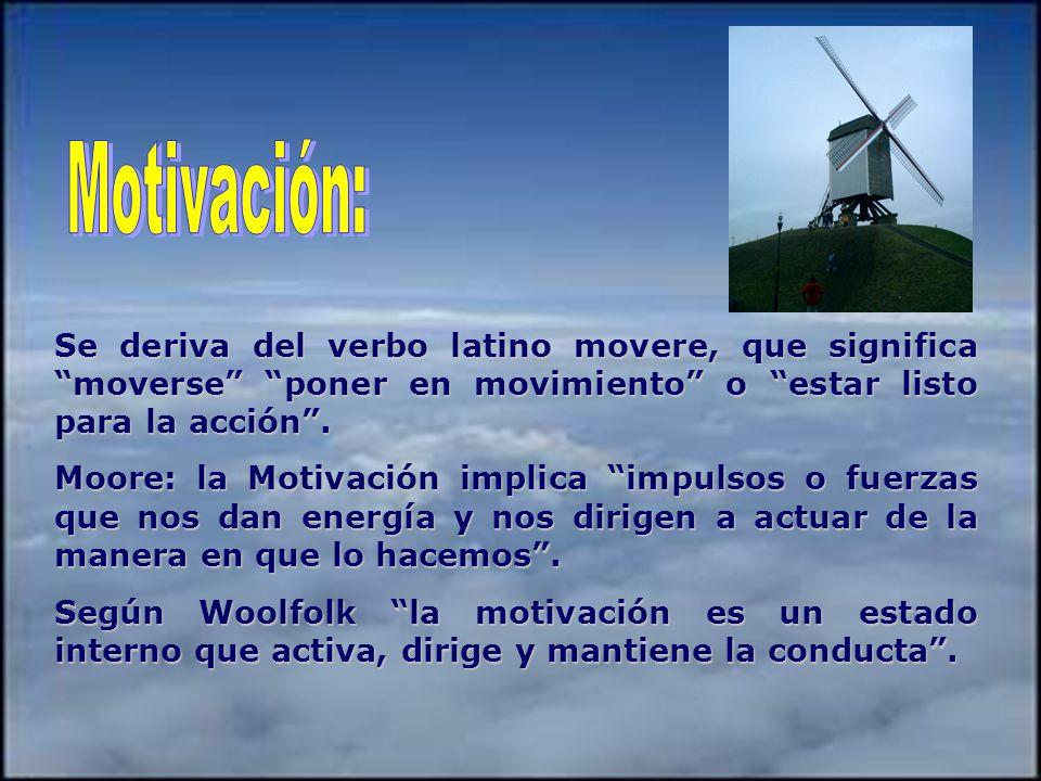 Motivación: Se deriva del verbo latino movere, que significa moverse poner en movimiento o estar listo para la acción .