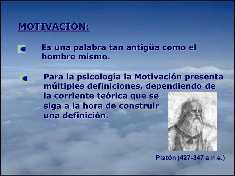 MOTIVACIÓN: Es una palabra tan antigüa como el hombre mismo.