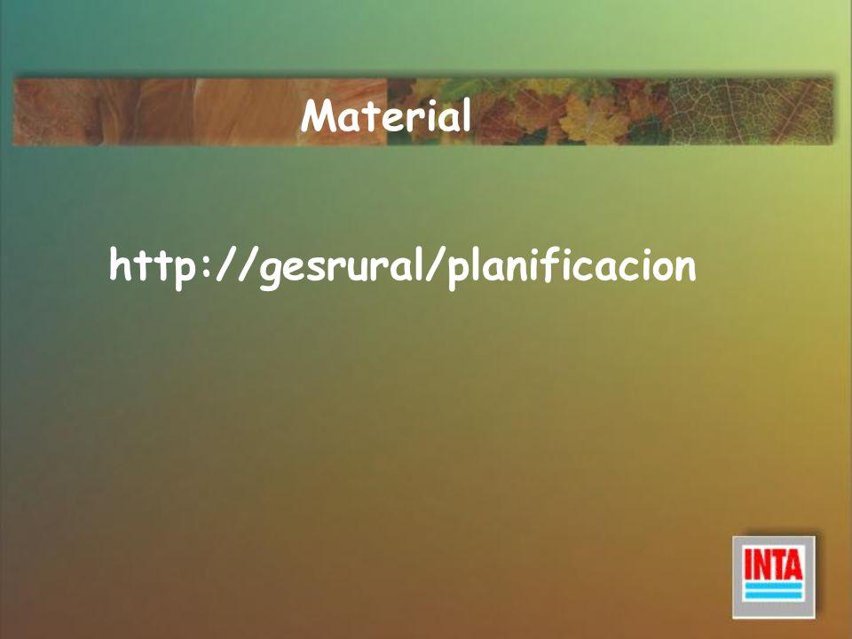 Material http://gesrural/planificacion