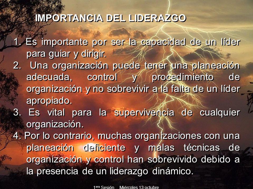 IMPORTANCIA DEL LIDERAZGO