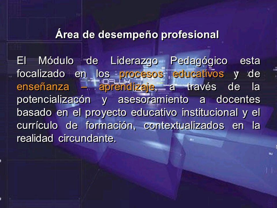 Área de desempeño profesional