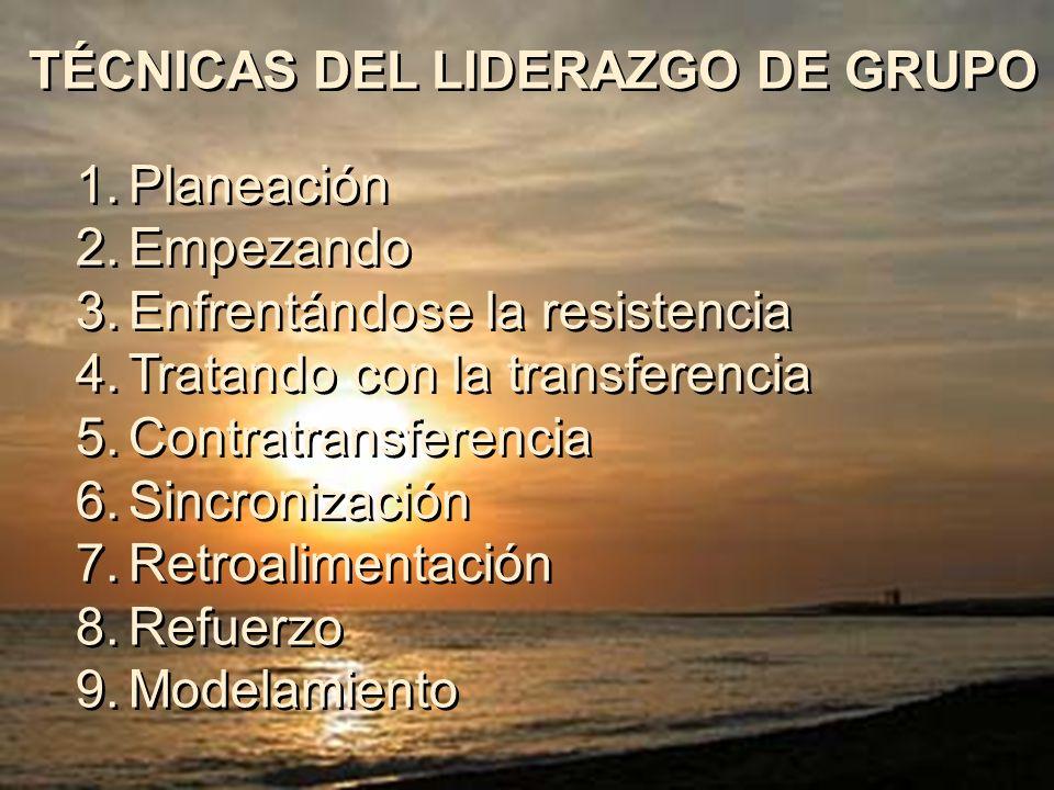 TÉCNICAS DEL LIDERAZGO DE GRUPO