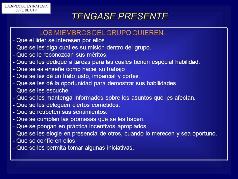 TENGASE PRESENTE LOS MIEMBROS DEL GRUPO QUIEREN...