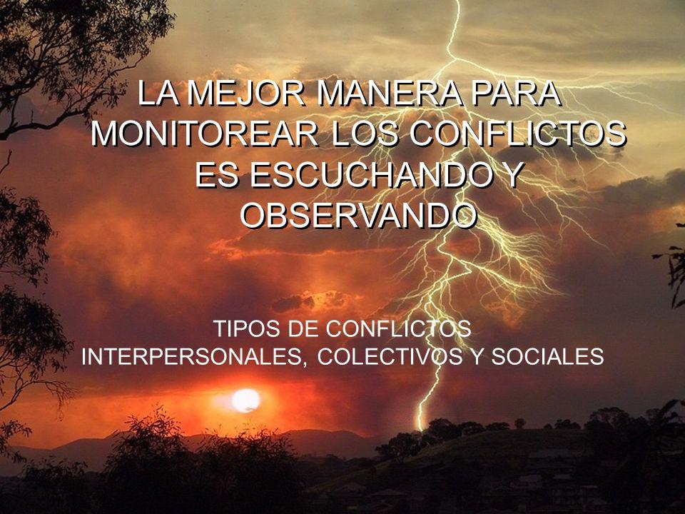 INTERPERSONALES, COLECTIVOS Y SOCIALES