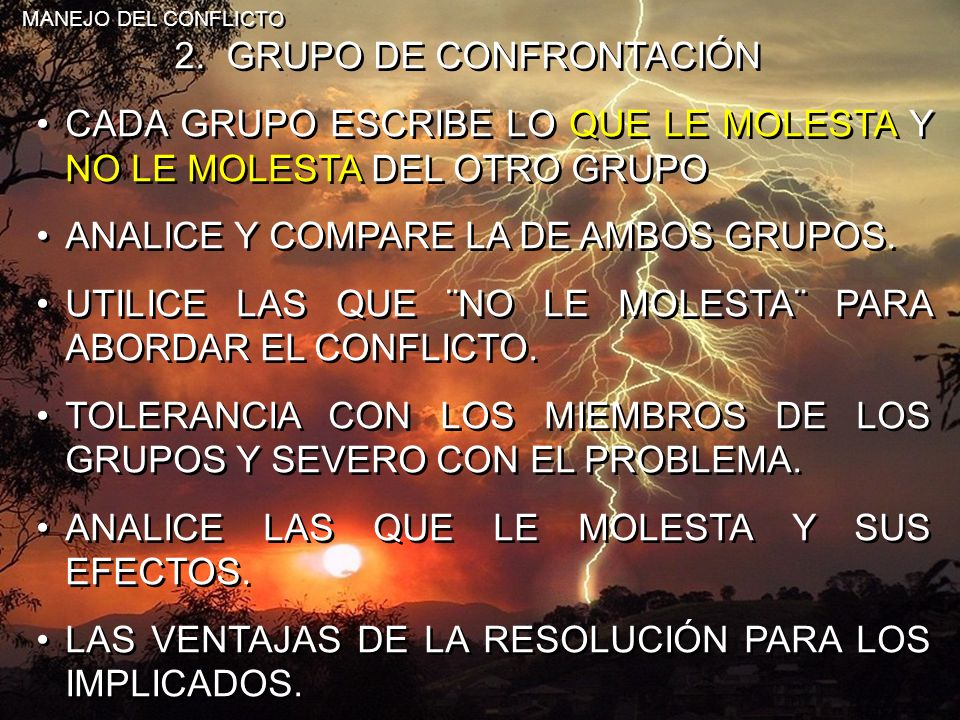 2. GRUPO DE CONFRONTACIÓN