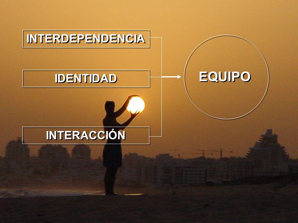 INTERDEPENDENCIA EQUIPO IDENTIDAD INTERACCIÓN