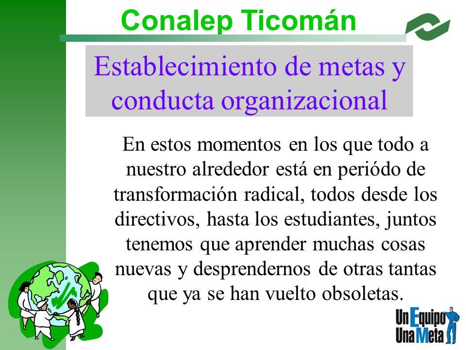 Establecimiento de metas y conducta organizacional