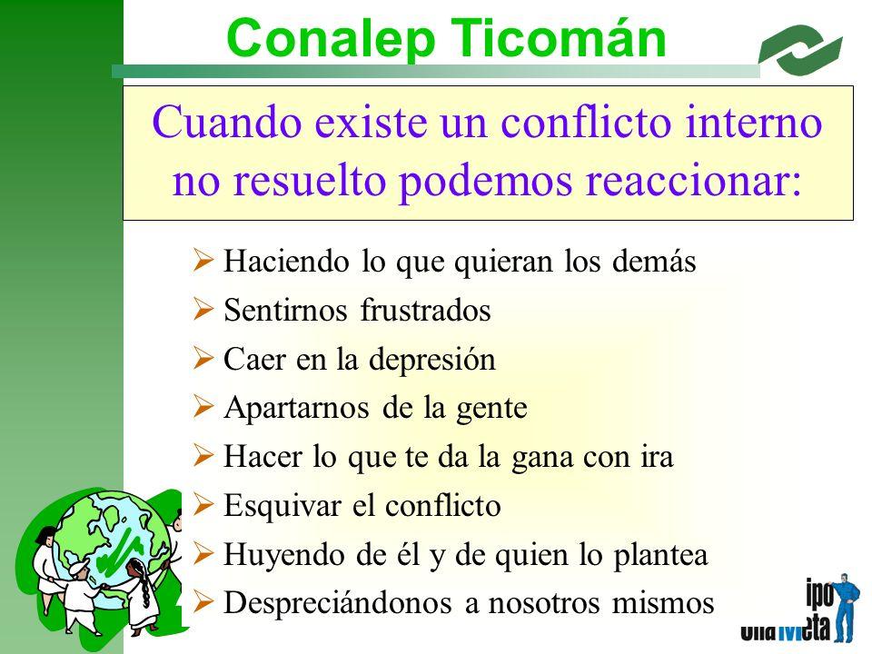 Cuando existe un conflicto interno no resuelto podemos reaccionar: