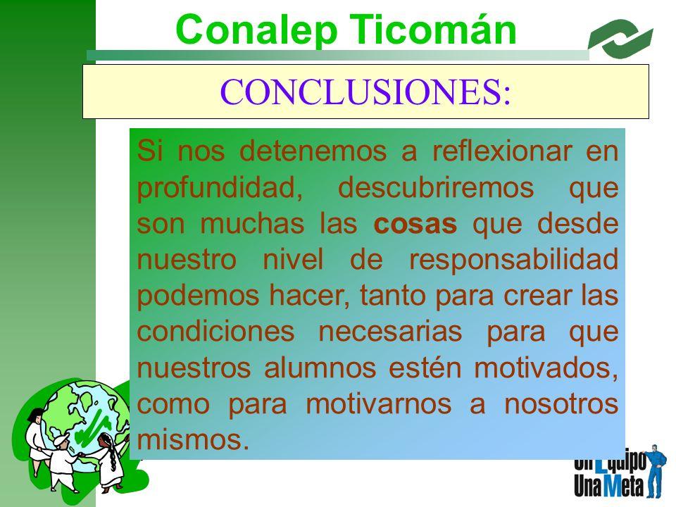 Conalep Ticomán CONCLUSIONES: