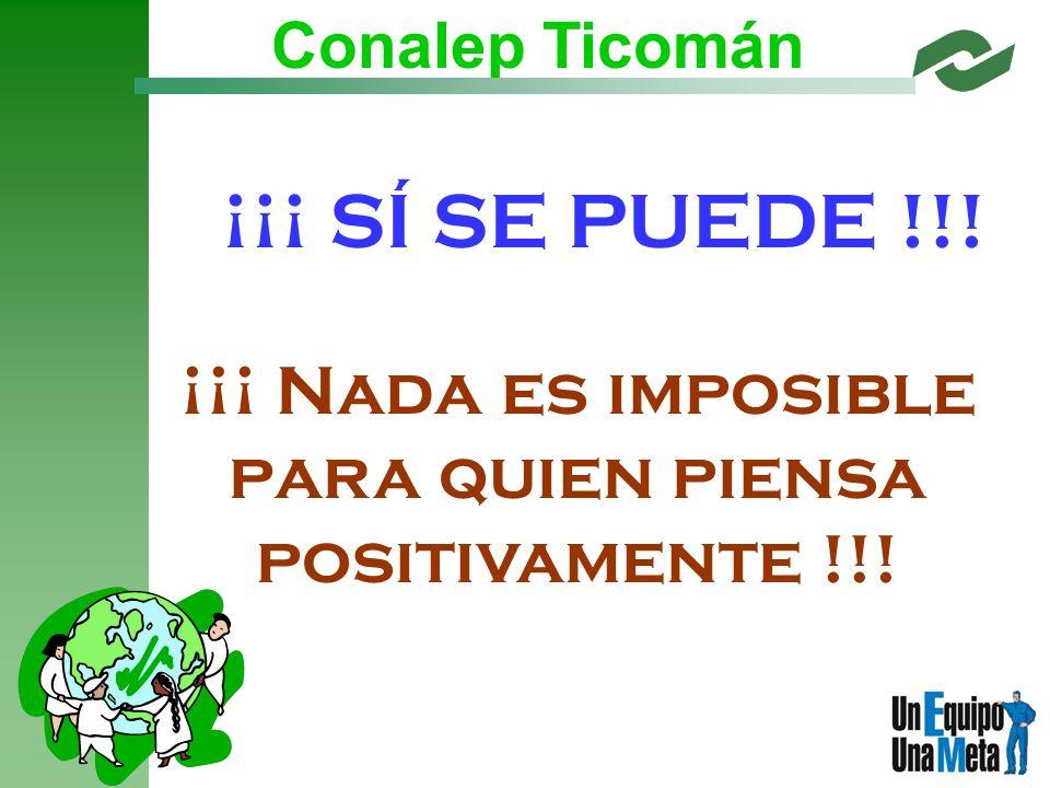 ¡¡¡ Nada es imposible para quien piensa positivamente !!!