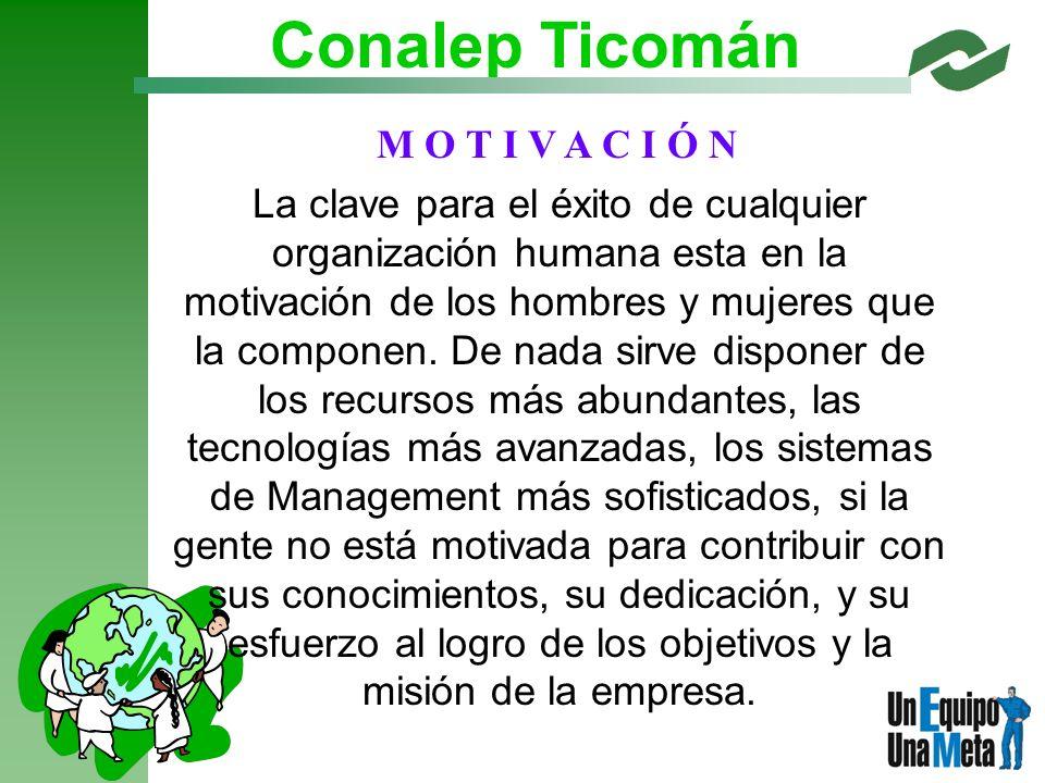 Conalep Ticomán M O T I V A C I Ó N