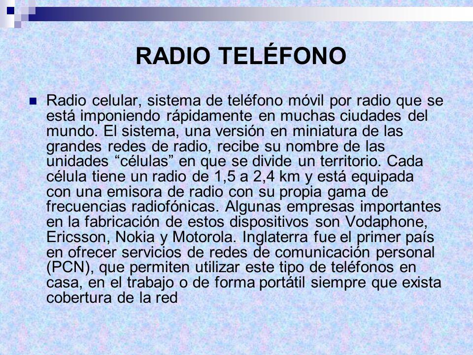 RADIO TELÉFONO