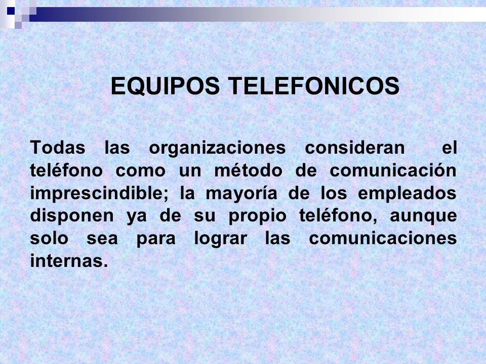 EQUIPOS TELEFONICOS