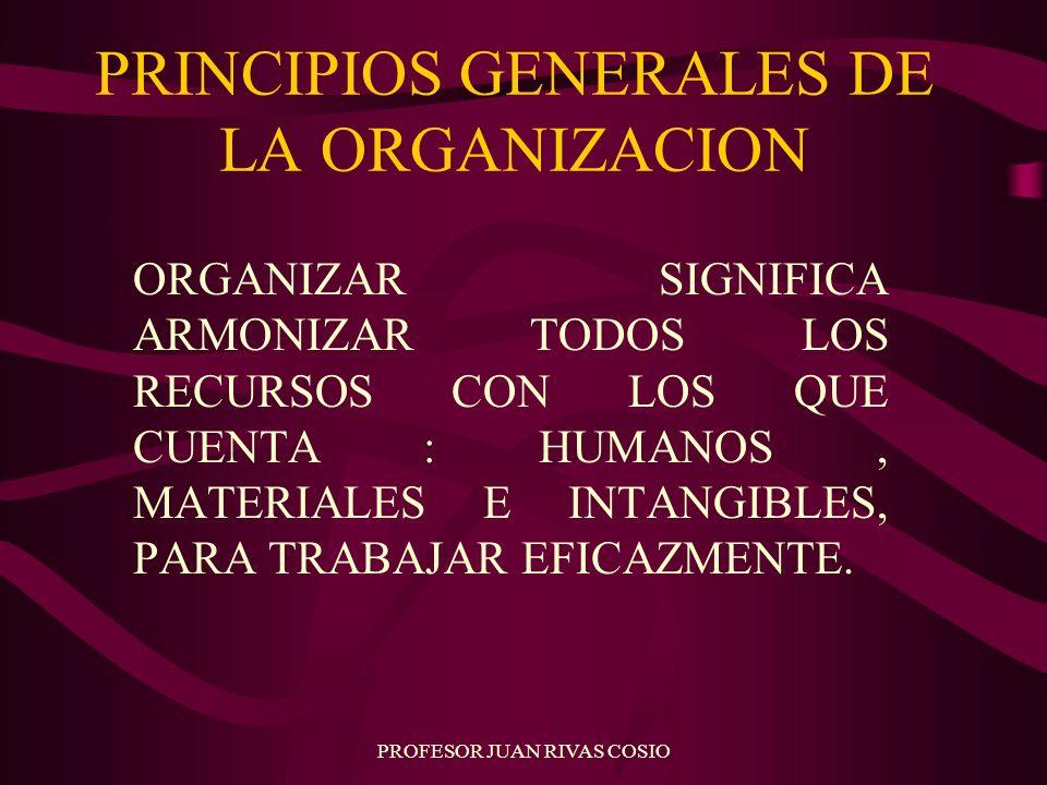 PRINCIPIOS GENERALES DE LA ORGANIZACION