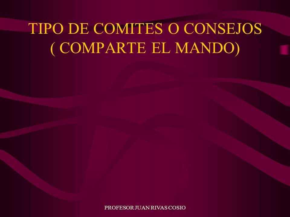 TIPO DE COMITES O CONSEJOS ( COMPARTE EL MANDO)