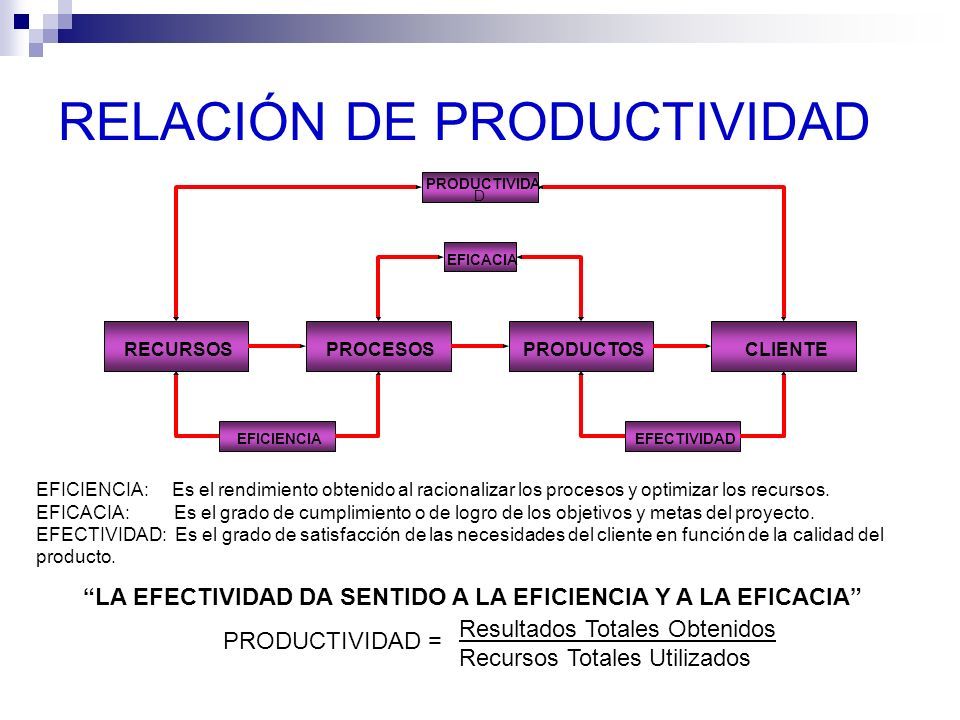 RELACIÓN DE PRODUCTIVIDAD