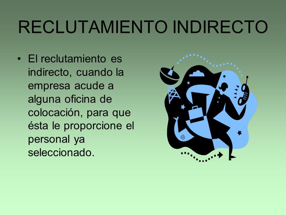 RECLUTAMIENTO INDIRECTO