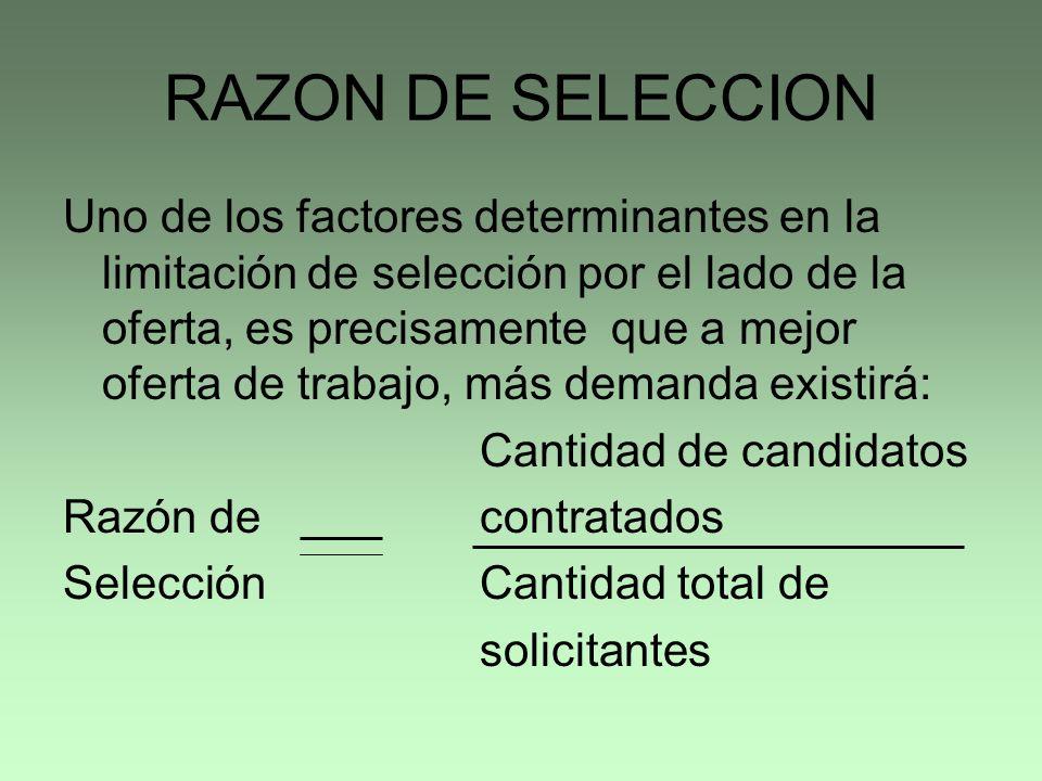 RAZON DE SELECCION