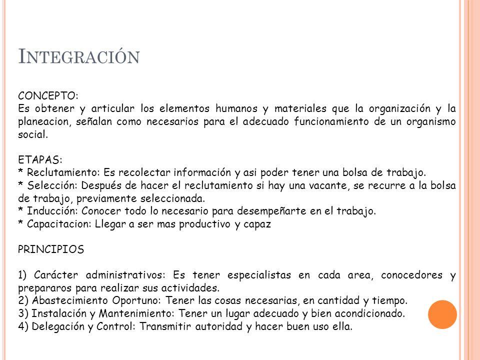 Integración CONCEPTO: