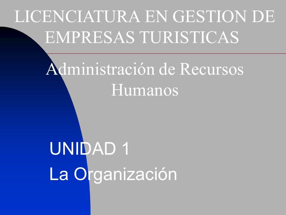 UNIDAD 1 La Organización
