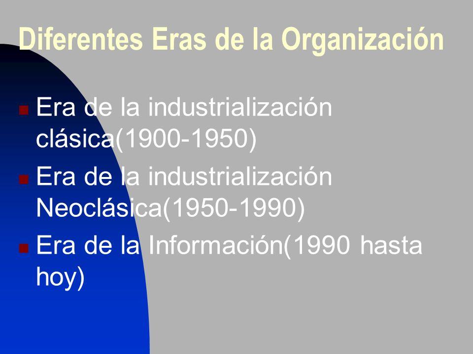 Diferentes Eras de la Organización