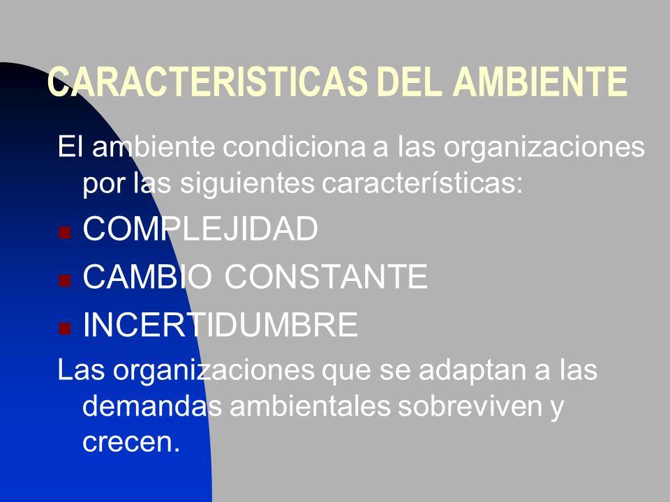 CARACTERISTICAS DEL AMBIENTE
