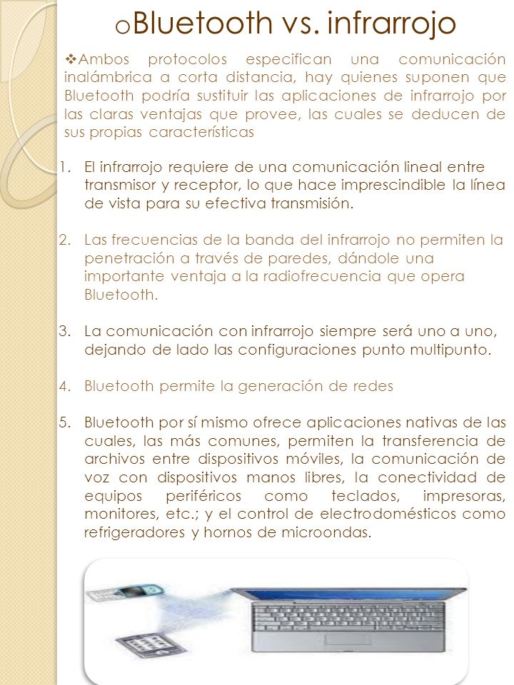 Bluetooth vs. infrarrojo