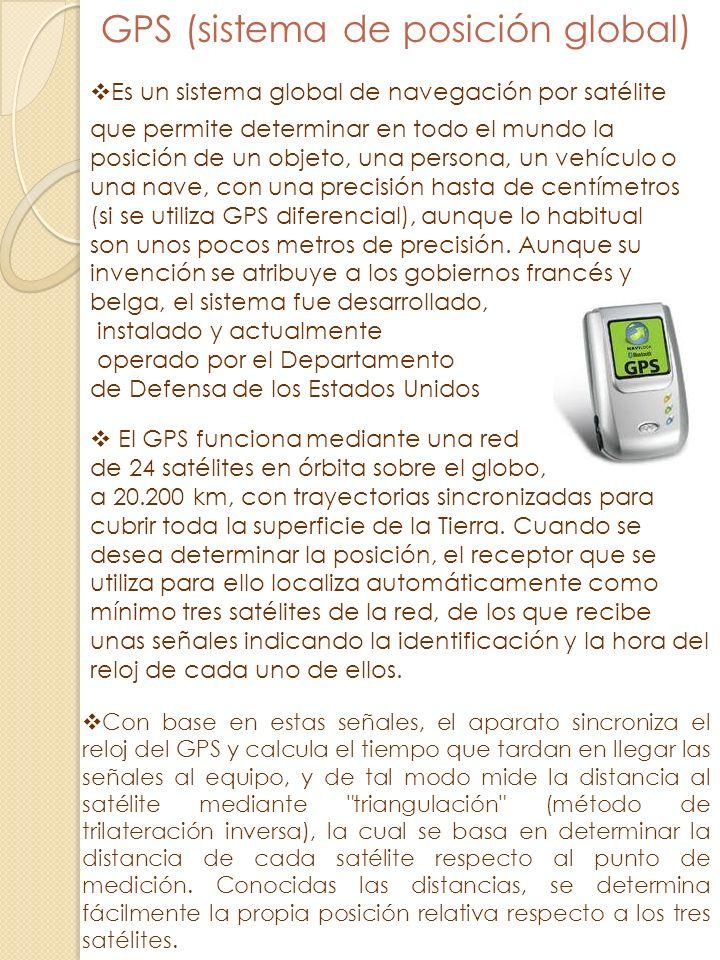 GPS (sistema de posición global)