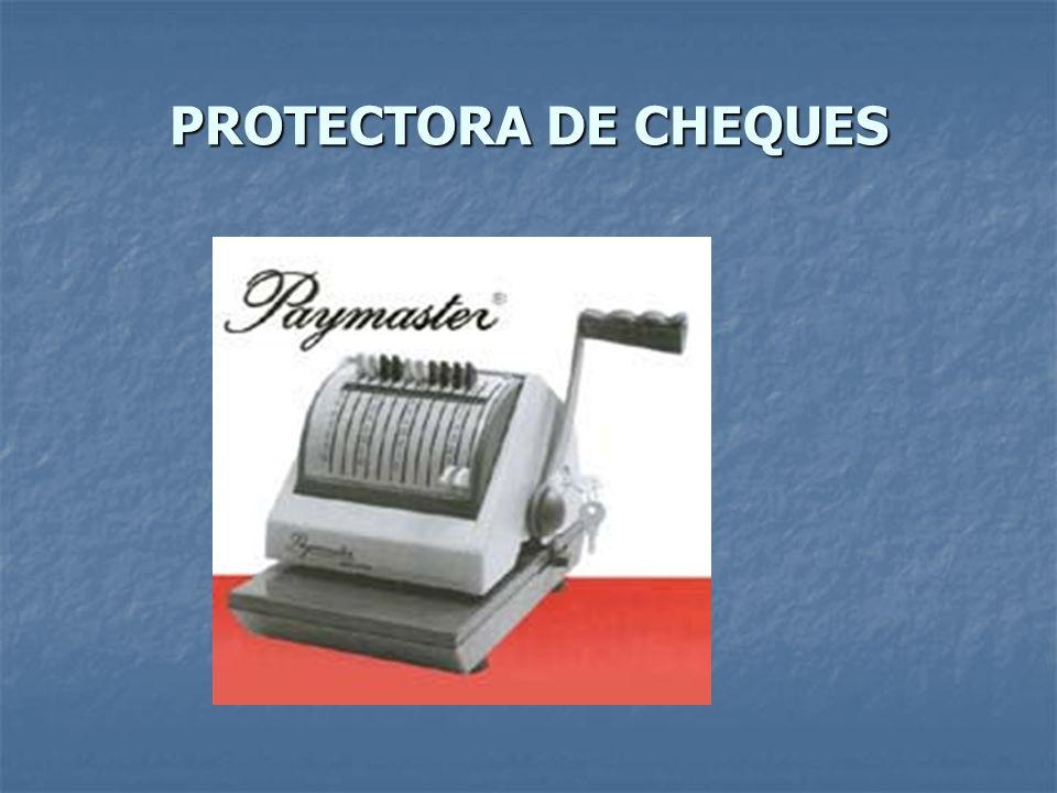PROTECTORA DE CHEQUES