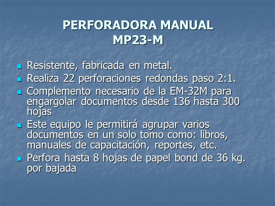 PERFORADORA MANUAL MP23-M